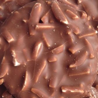 speltwafels melkchocolade met amandelen